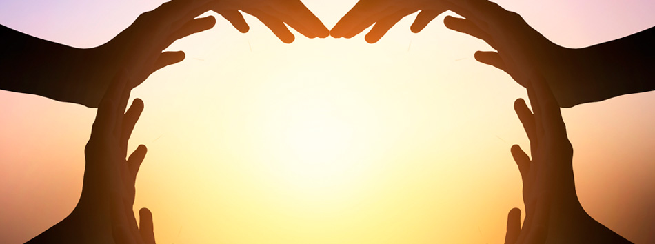 International Day of Friendship - Hands Heart Shaped